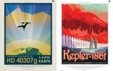 L'exploration des exoplanètes en posters rétro-futuristes par la NASA