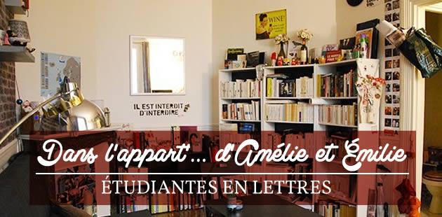 Dans l'appart' d'Amélie et Émilie, étudiantes en Lettres