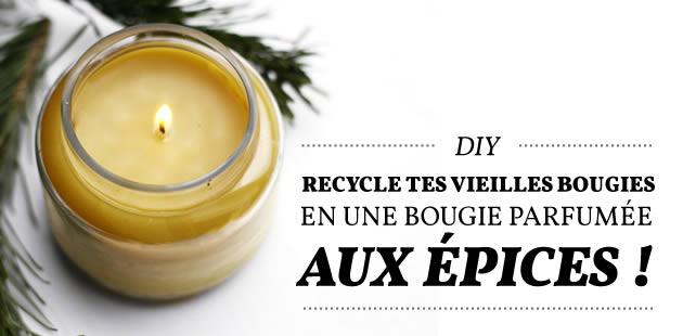 DIY — Recycle tes vieilles bougies en fabriquant une bougie parfumée aux épices !