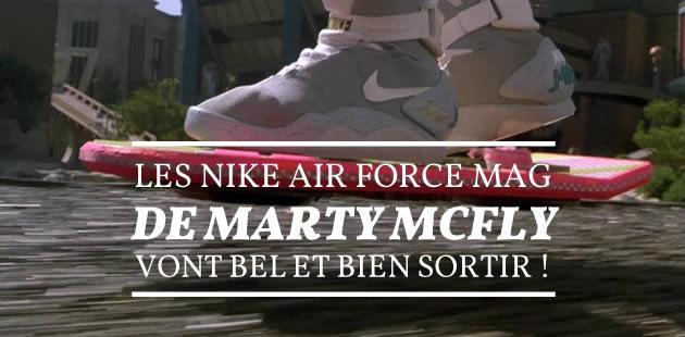 Les Nike Air Force Mag de Marty McFly vont bel et bien sortir !