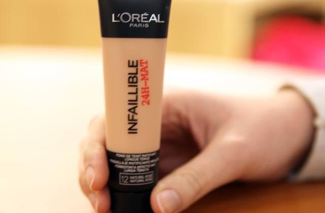 Fond de teint Infaillible Mat 24h de L'Oréal Paris : le test !