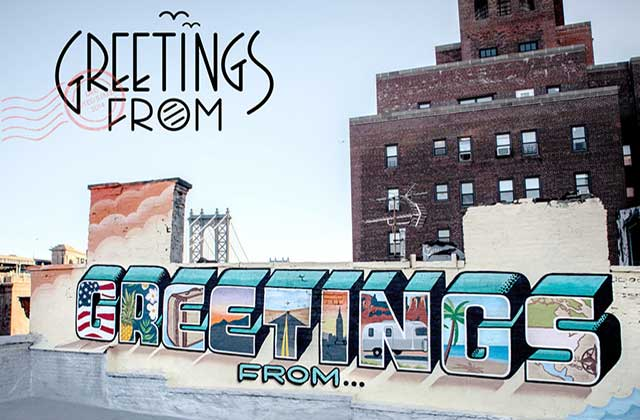 « Greetings From », un projet de street-art en forme de road-trip à travers les États-Unis