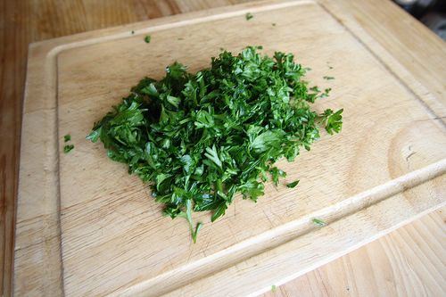 cuisiner les restes herbes