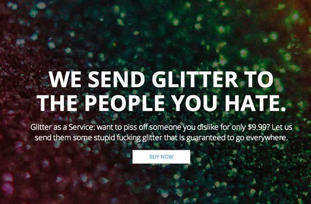 Ship Your Enemies Glitter, le site qui envoie des paillettes à tes ennemis