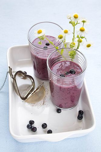smoothie banane myrtille