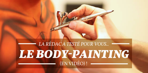 body painting en vidéo