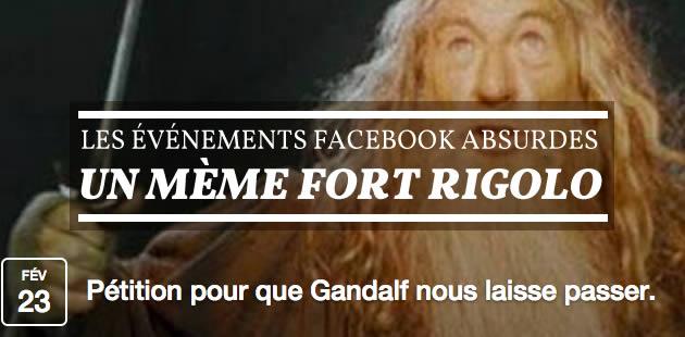 Les événements Facebook absurdes, un mème fort rigolo