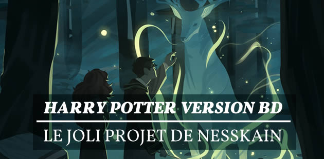Harry Potter version BD, le joli projet de Nesskain