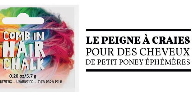 Le peigne à craies pour des cheveux de Petit Poney éphémères