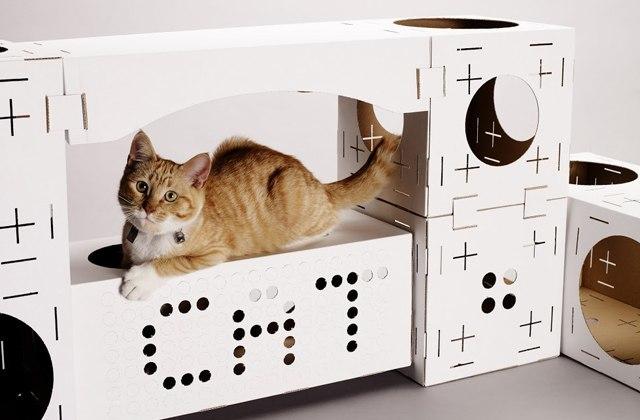 BLOCKS, les maisons pour chat en carton à construire soi-même