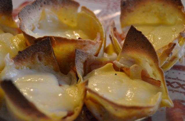 Les bouchées de tortillas au fromage et au bacon – la recette