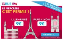Paris, Lille & Lyon à 9€ le trajet avec iDBUS  : découvrez notre sélection de bonnes adresses !