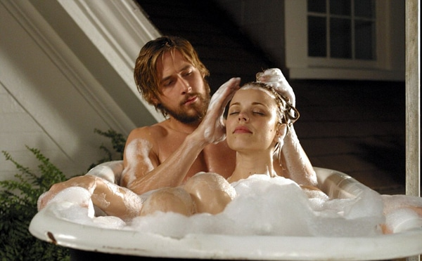 the notebook bath scene