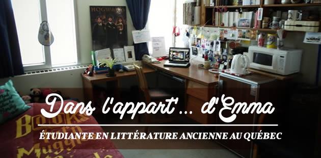Dans l'appart' d'Emma, étudiante en littérature ancienne au Québec