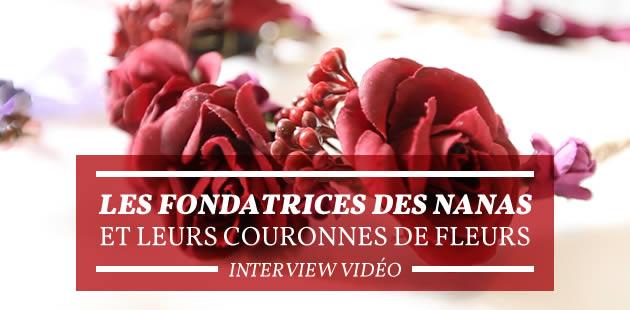 Les fondatrices des Nanas et leurs couronnes de fleurs — Interview vidéo