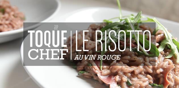 Recette vidéo — Le risotto au vin rouge et aux oignons