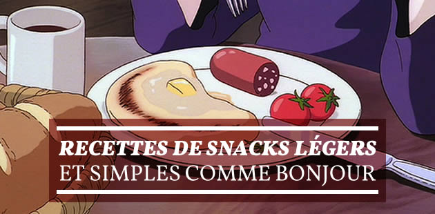 Recettes de snacks légers et simples comme bonjour