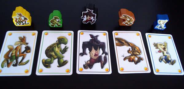 cartes pari jeu le lièvre et la tortue