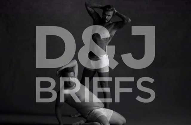 David Beckham parodie une pub pour slip chez James Corden