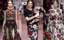 Dolce & Gabanna met les mères à l'honneur lors de la Fashion Week 2015