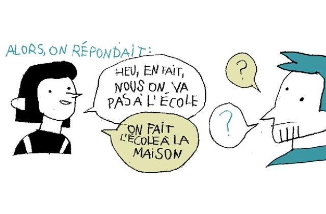 «L'école n'est pas obligatoire», le strip de Tarmasz sur l'école à la maison