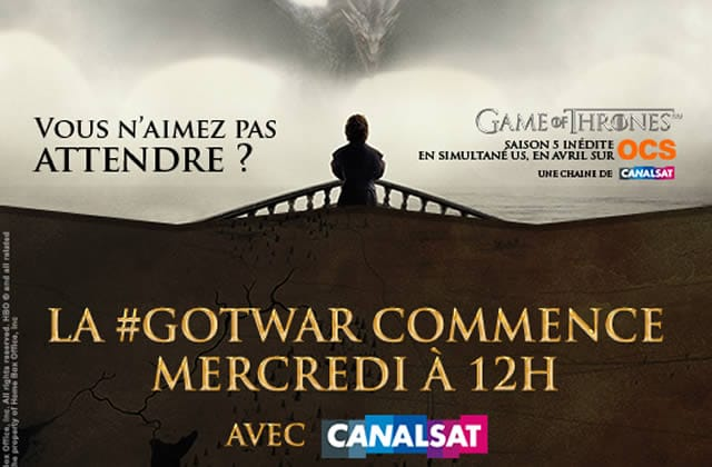 La #GoTWar vous fait gagner sur Twitter des places pour l'avant-première de Game of Thrones !