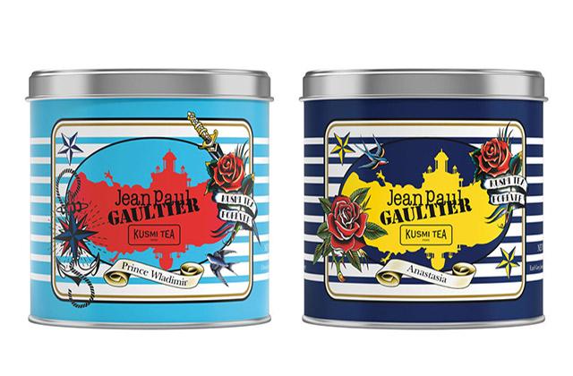 Jean-Paul Gaultier dessine deux boîtes à thé pour Kusmi Tea