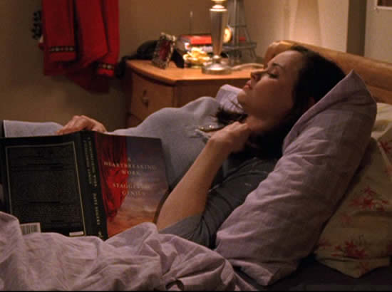gilmore girls rory bed book