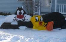 Les sculptures en neige inspirées de la pop-culture par DK