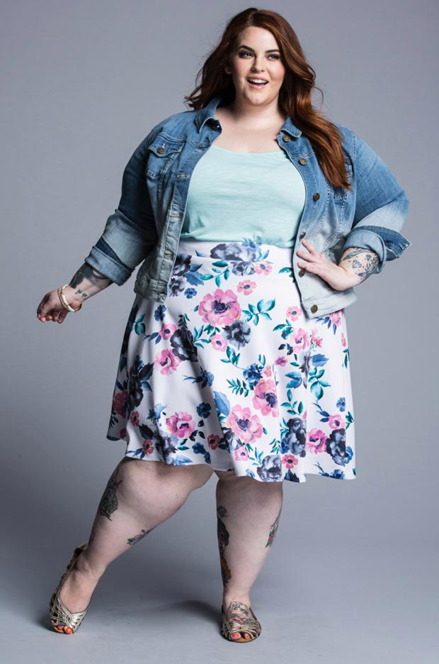 tess-holliday-plus-size-jupe-fleurs
