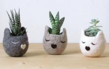 Les adorables cache-pots animaux de The Yarn Kitchen