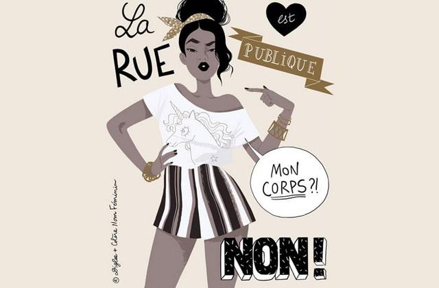 Diglee et l'association Colère:Nom Féminin collaborent contre le harcèlement de rue