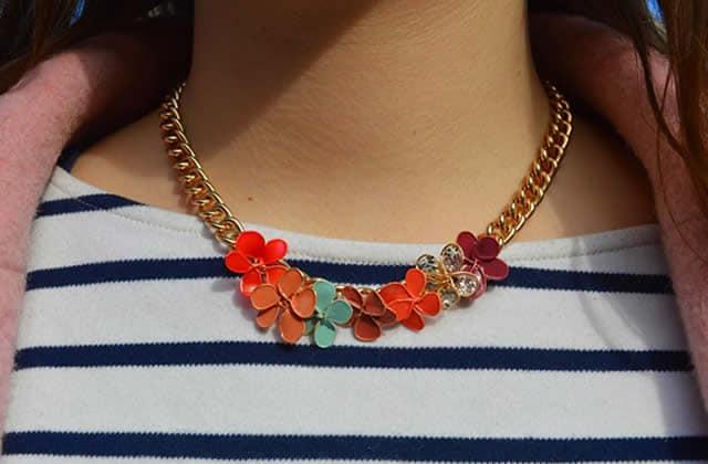 DIY — Un collier de fleurs en vernis