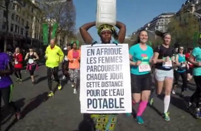 L'acte militant d'une Gambienne au marathon de Paris permet de ramener l'eau potable dans son village en Gambie