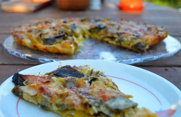 pizza poireaux jambon