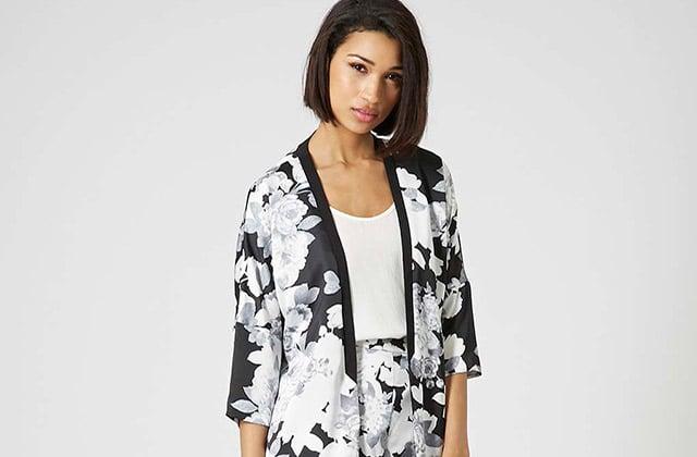 trois looks pour adopter la tendance kimono au printemps 2015. Black Bedroom Furniture Sets. Home Design Ideas