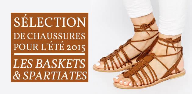 Sélection de chaussures pour l'été 2015 — Les baskets et les spartiates