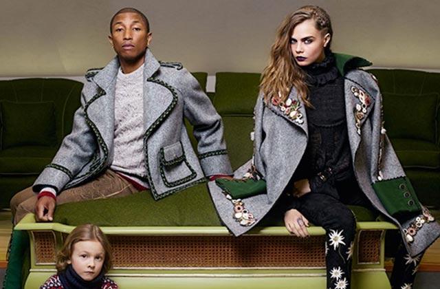 Cara Delevingne et Pharrell Williams posent ensemble pour Chanel