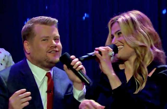 Idina Menzel et James Corden interprètent la scène culte de « Dirty Dancing » !