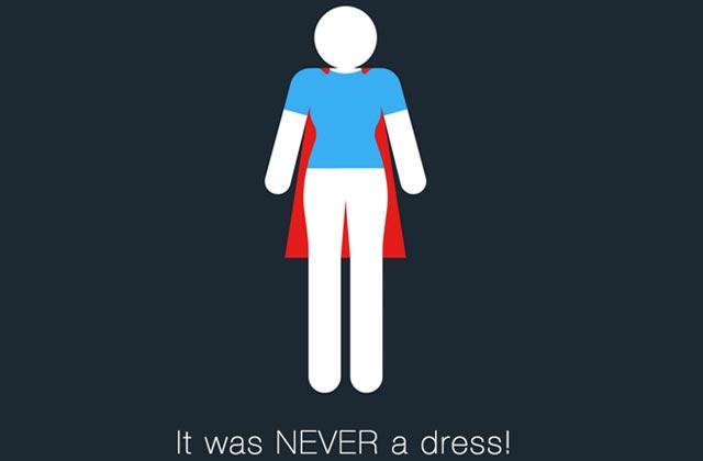 #Itwasneveradress réhabilite la place des femmes via le logo des toilettes