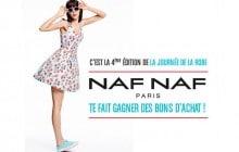 Naf Naf vous offre des bons d'achats pour la Journée de la Robe 2015 !