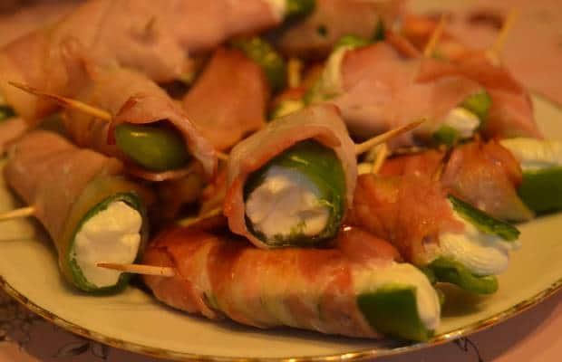 piment vert fromage frais bacon 2