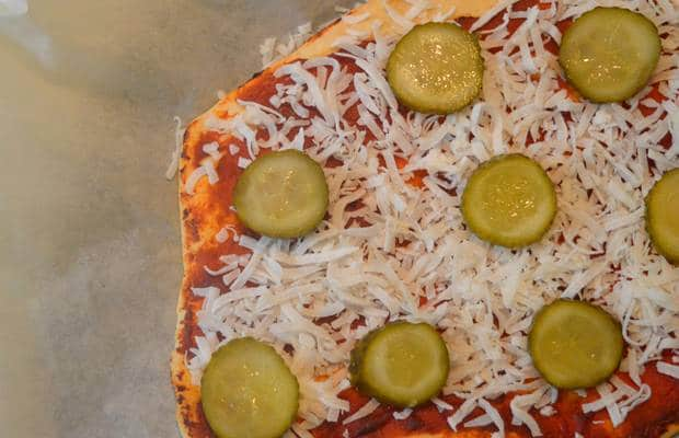 pizza noix de coco pickles