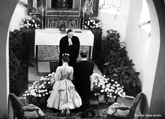 audrey hepburn's wedding behind chapel