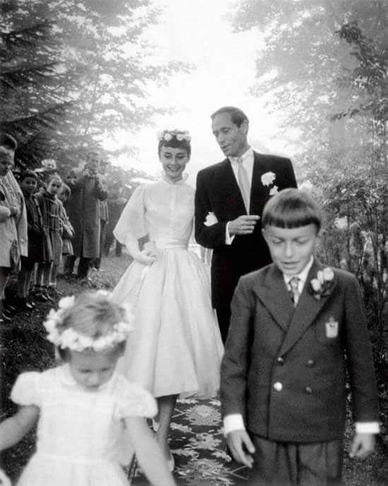 audrey hepburn's wedding