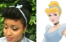 Les coiffures des princesses Disney reprises avec des cheveux crépus