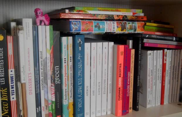 collection de livres de recettes