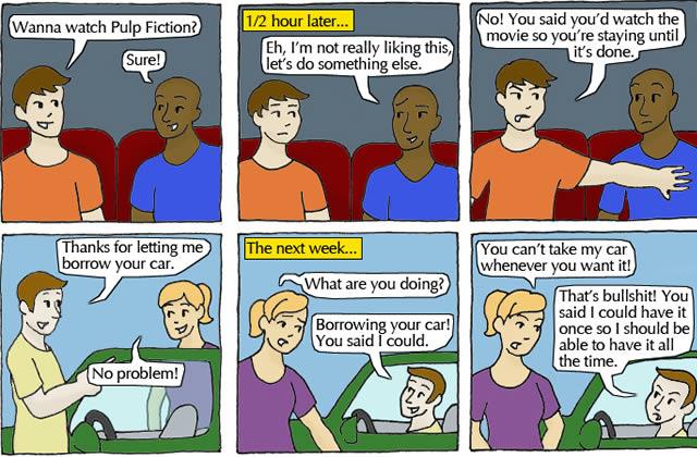 Le consentement expliqué par des métaphores toutes simples
