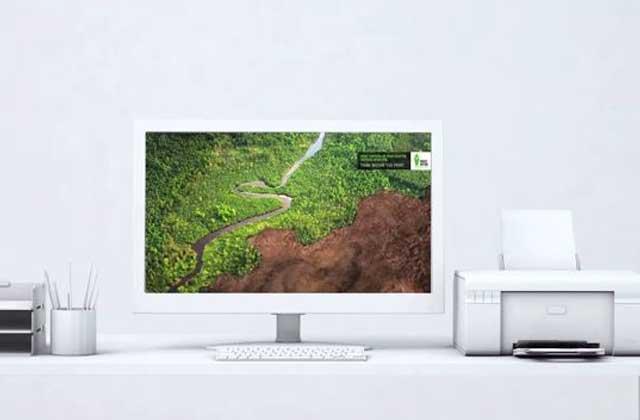 Un fond d'écran intelligent et écologique se déforeste au rythme de vos impressions