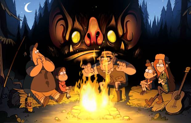 gravity falls feu de camp